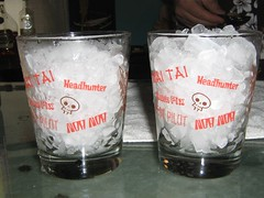 Glassware with ice