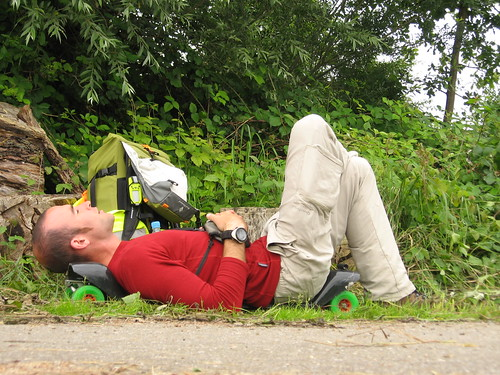 Looks uncomfortable, but is surprisingly good - taking a rest near Offenburg, Germany