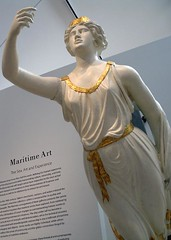 Figurehead (AntyDiluvian) Tags: woman white tiara museum lady massachusetts newengland sash collection maritime figure salem gilded toga decent figurehead bostonist pem draped peabodyessexmuseum onshore maritimeart wallhanger