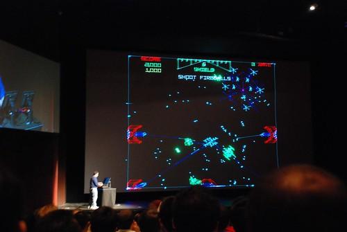 Jugando Star Wars en el preshow del Electronic Theater