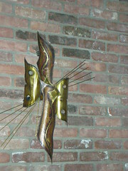 70s original brass/copper wall art