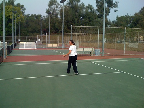 Anna playing the tennis