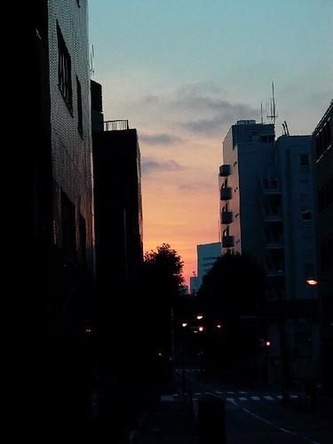 Hanzomon streetscape dawn