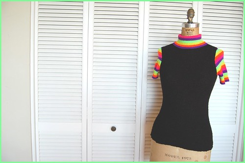 neon stripe knit top