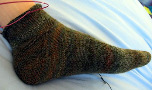 Partial sock 2, view 2