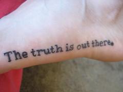 foot tattoo take 2 (artnoose) Tags: tattoo foot truth text xfiles harjit