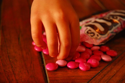 Pick pink m&ms, Olivia did