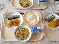 School Lunch, Sanma (hirahiraskirt) Tags: japan delicious elementaryschool sanma schoollunch smokedfish