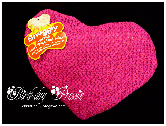 Birthday Pressie: Snuggly Hot Pink Heart Shape Heat Pillow