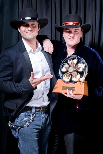Robert Rodriguez and Quentin Tarantino at the 2010 Texas Film Hall of Fame Awards