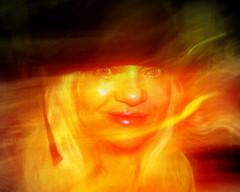 Abstract Self portrait.... (**Ms Judi**♥) Tags: woman abstract me smile hat smiling lady female hair myself friend photographer grandmother grain dream longhair mother blonde lipstick grainy blondie dreamer plain blackhat pinklipstick bluegreeneyes abstractselfportrait msjudi judistevenson judippc photographybymsjudi