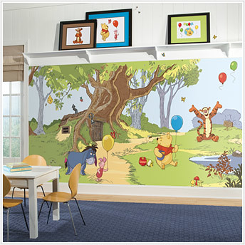 pooh and friends wallpaper decals
