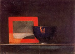 Nicholson, Ben (1894-1982) - 1919 Blue Bowl in the Shade (Private Collection) (RasMarley) Tags: stilllife english painter expressionism nicholson 1919 1910s 20thcentury privatecollection bennicholson bluebowlintheshade