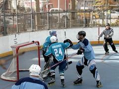 Roller Hockey, Stanley Isaacs Court, Yorkville, New York City (jag9889) Tags: park city nyc ny newyork game hockey field play roller eastside yorkville fdr 2010 96street y2010 jag9889 stanleyisaacscourt