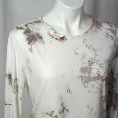 Old Rose and Soft Gray Water Crystals Bamboo Tee (dyedianadye) Tags: pink mist ice rose women gray plum tshirt bamboo organic etsy offwhite artfire dyedianadye zibbet