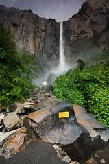 Bridalveil Falls with Plaque