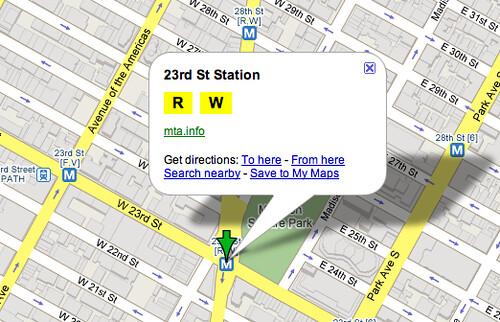Google Maps Transit Detail