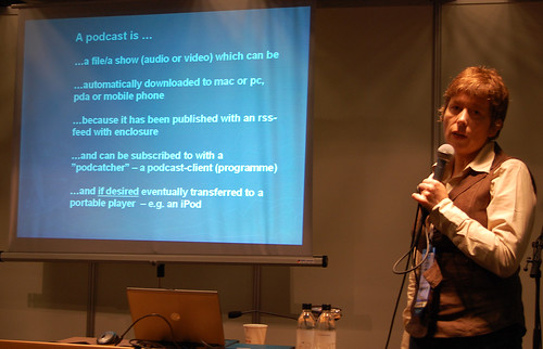Karin Høgh talked about usability in podcasting