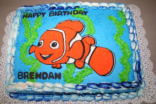 Fabulous Finding Nemo Birthday Cake A Photo On Flickriver Funny Birthday Cards Online Elaedamsfinfo
