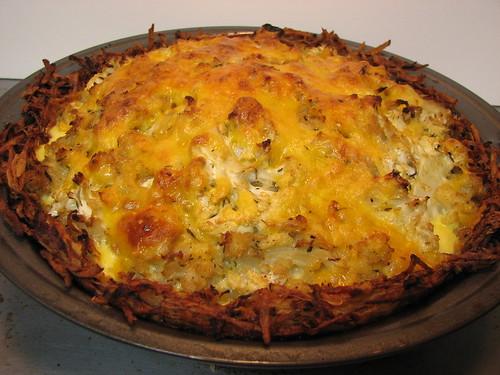 caulflower cheese potato pie