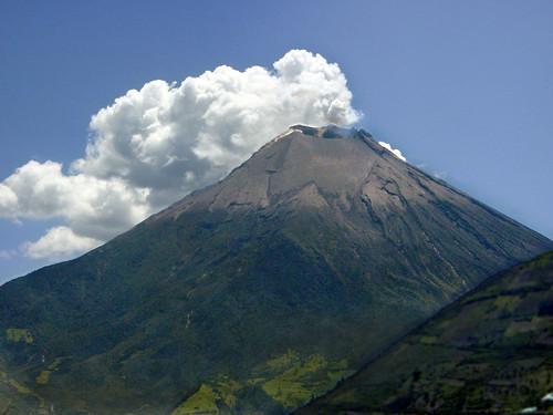 Active Volcano Crater, Ecuador