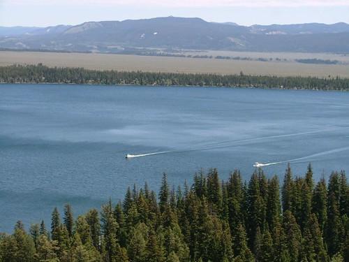 眺望Jenny Lake