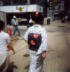Kimono  (*scott*) Tags: 120 6x6 japan mediumformat holga lomography kyoto kodak maiko geiko geisha   kimono portra   400vc
