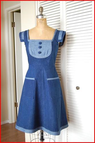 restyled denim dress