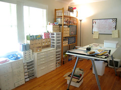 Room of Drawers and a Table (Katey Nicosia) Tags: studio crafts workroom drawers craftroom