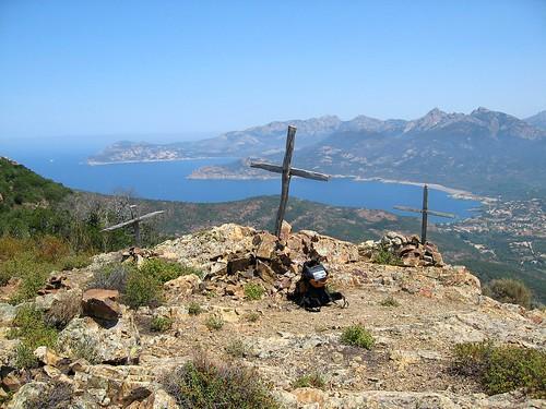 Croce di Porcu Liccatu et la baie de Galeria