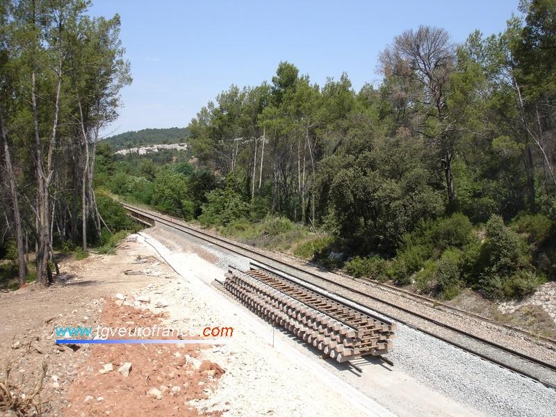 Travaux de doublement de la voie entre Aix et Marseille