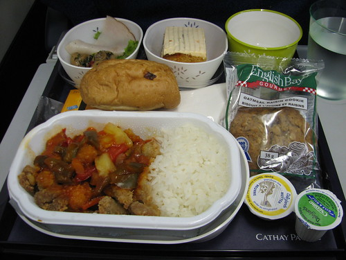 cathay pacific's dinner fare