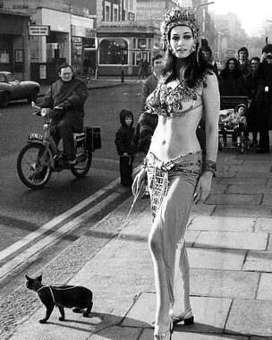 Valerie Leon doing promo work for Blood from the Mummy's Tomb