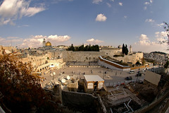 Jerusalem, Old City - Temple Mount (Sam Rohn - 360 Photography) Tags: travel israel interesting peace nikond70 muslim jerusalem paz domeoftherock mosque fisheye jewish pax nikkor oldcity paix westernwall templemount jewishquarter alaqsa alquds kotel locationscouting locationscout 105mmf28gfisheye haramalsharif samrohn locationscouts nylocationscom top20jerusalem