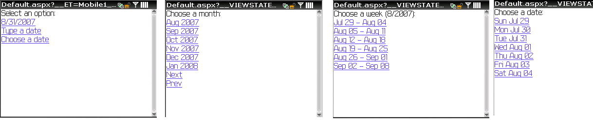 Mobile calendar control display on BlackBerry | The ASP NET