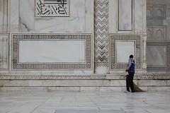 Sweeping the Taj Mahal