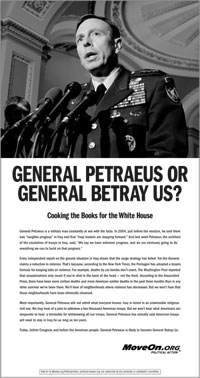 Moveon.org Petraeus advertisement