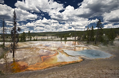 other worldly (richietown) Tags: topf25 topv111 clouds canon landscape spring topv333 raw stock yellowstonenationalpark getty wyoming hotspring bacteria hotsprings 30d cs3 sigma1020mm supershot outstandingshots richietown aplusphoto