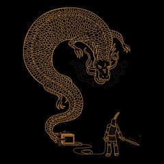 hero within (mw82) Tags: black game art shirt illustration bronze ink gold design video clothing dragon graphic foil tshirt winner knight loves threadless tee vector apparel eforall