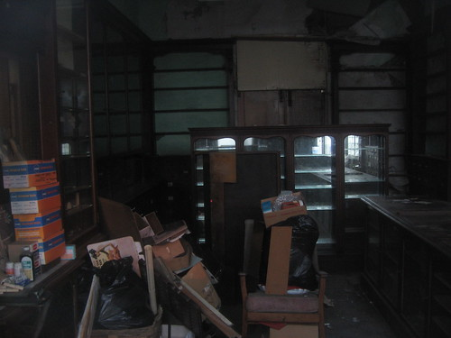 intact chemist shop interior