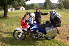 End of Northern France tour by motorcycle