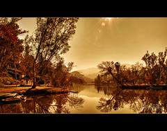 lake under the sun (Kris Kros) Tags: california ca sun lake photography high nikon raw dynamic under hills bec range hdr kkg the agoura photomatix maliboulake kriskros 1xp artofimages kkgallery