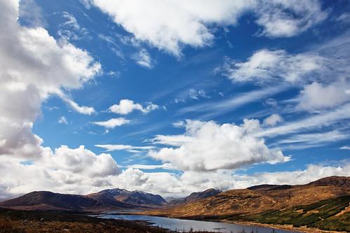 フリー写真素材, 自然・風景, 空, 雲, 山, スコットランド,