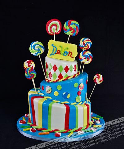 Candyland cake designs