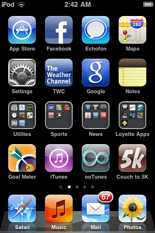My iOS4 iPod touch home screen