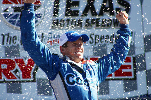 Carl Edwards in the Winners Circle, November 6, 2010, winning the Nationwide race at Texas Motor Speedway