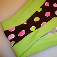 NEW! LOW RISE Women's Dundies Size 8<br>Bright Dots