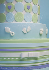 Patterns, Moulds, and Stripes (Rouvelee's Creations) Tags: baby love cake heart stripes polymerclay babyshower stork chocolatemudcake rouvelee