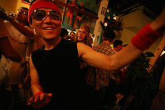 PCK!!!! (sgoralnick) Tags: party sunglasses dancing phillip inreallife whiskladle whiskandladle phillipckim ginsocial eastriverbadmintonclub