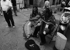 Guitar & Accordian BW (ABVear) Tags: madrid blackandwhite spain rastro